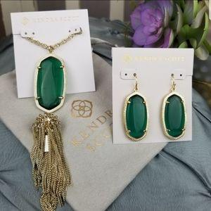 Emerald Cat's Eye, Kendra Scott, Rayne, Necklace